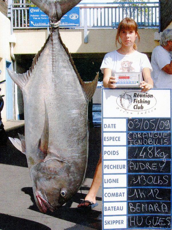 105-pound, 13-ounce Giant Trevally