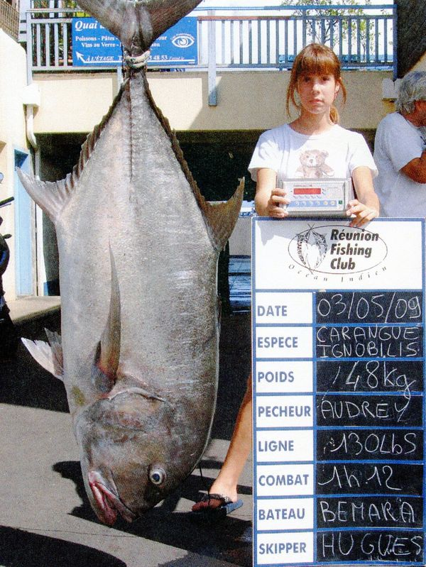 105-pound, 13-ounce Giant Trevally