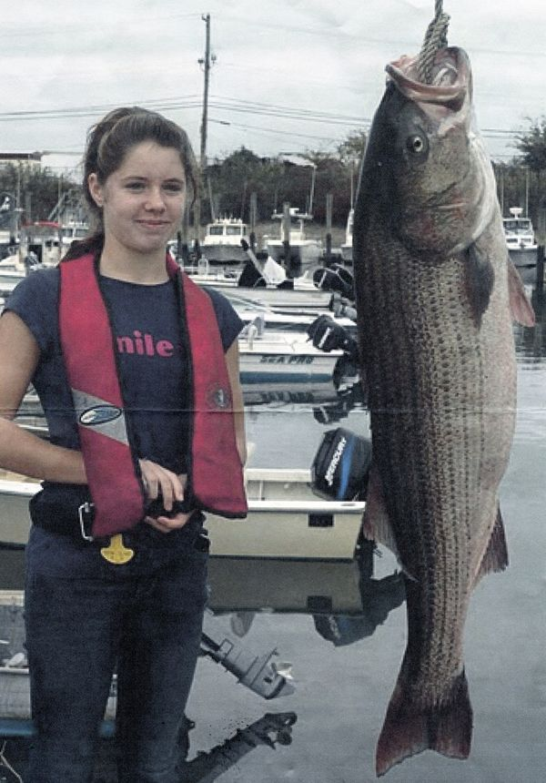 58-POUND, 4-OUNCE STRIPED BASS
