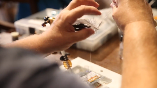 Fly casting instructor Joe Mahler hosts free classes on fly tying and net casting for families at Bass Pro Shops in Fort Myers every Wednesday night.